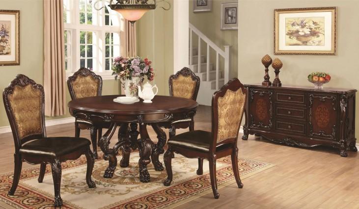 Abigail Cherry Round Pedestal Dining Room Set