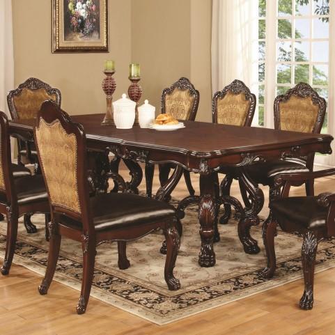 Abigail Cherry Rectangular Double Pedestal Dining Table