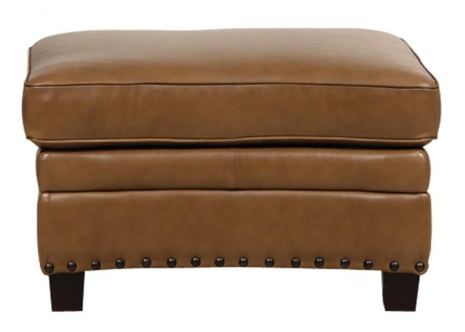 Bennett Italian Leather Storage Ottoman