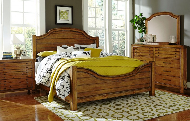 Bethany Square Brown Panel Bedroom Set