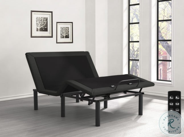 Catalyst Dark Gray And Black Wireless Upholstered Adjustable Cal. King Bed Base