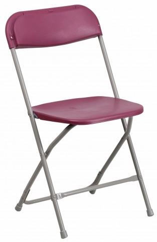 Hercules Series Premium Burgundy Plastic Folding Chair