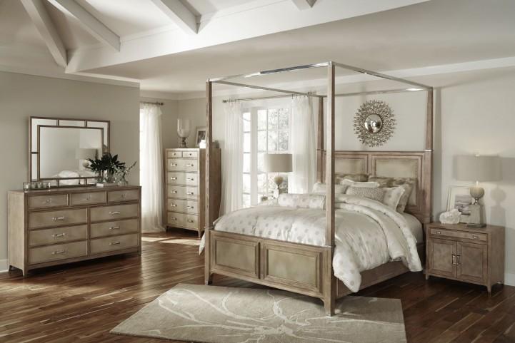 Biscayne West Sand Canopy Bedroom Set
