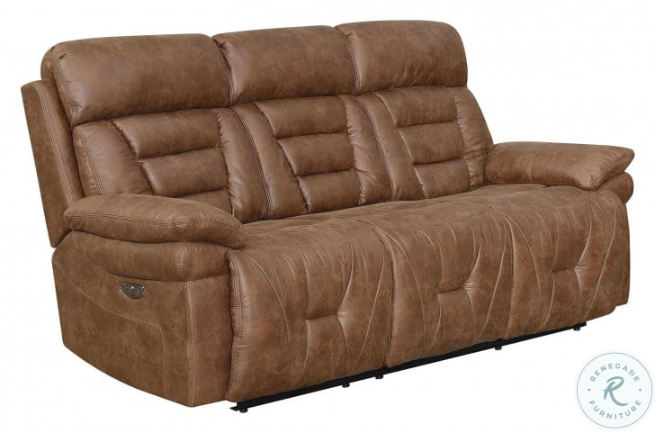 Brock Cinnamon Power Recliner Sofa