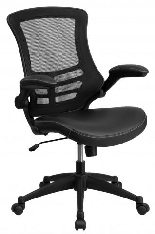 1000171 Mid-Back Black Chair