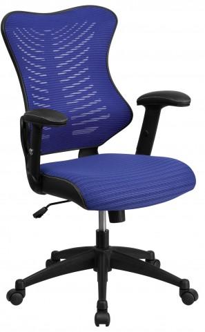 High Back Blue Chair