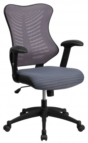 High Back Gray Chair