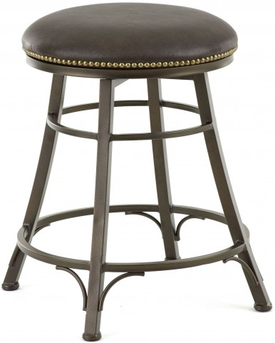 Bali Bonded Leather Backless Swivel Counter Stool