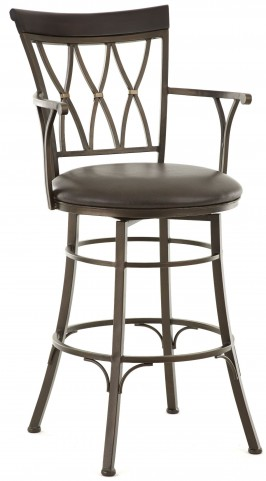 Bali Jumbo Bonded Leather Swivel Bar Chair