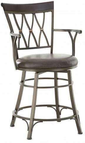 Bali Jumbo Bonded Leather Swivel Counter Chair