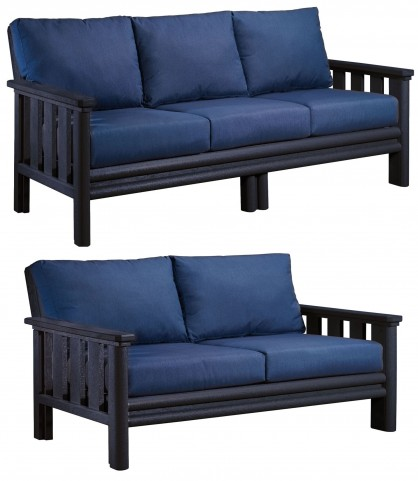 Stratford Black Outdoor Living Set