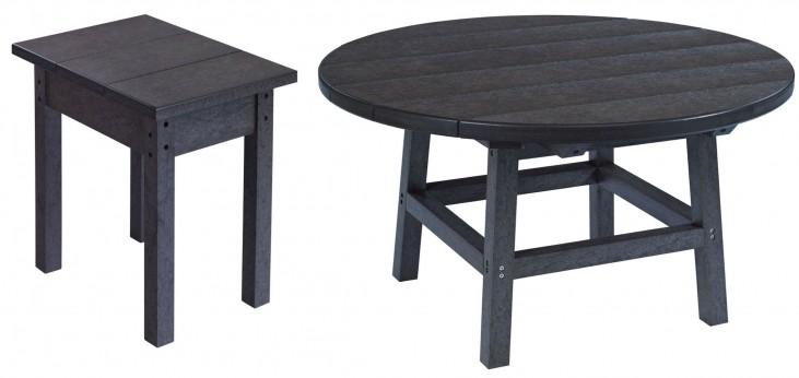 "Generations Black 37"" Round Pedestal Dining Room Set"
