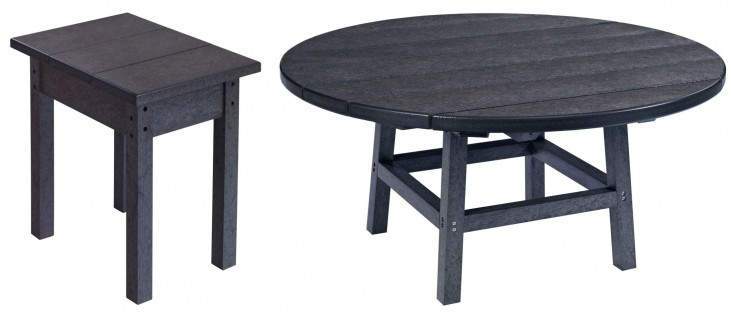 "Generations Black 37"" Round Occasional Table Set"