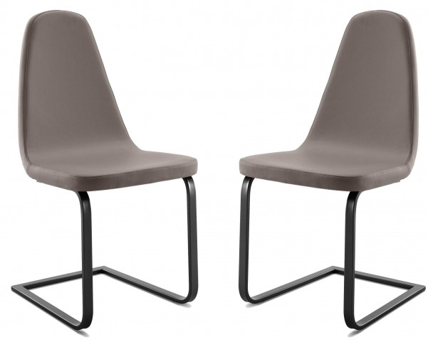 Blade Skill Taupe Steel Chair Set of 2