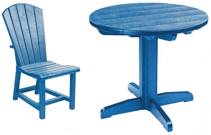 "Generations Blue 32"" Round Pedestal Dining Room Set"