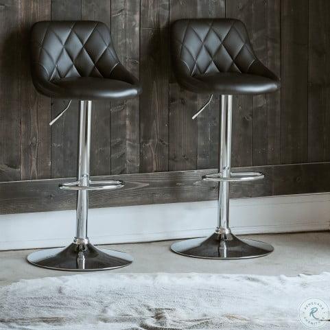 Fantastic Baltimore Black Adjustable Swivel Bar Stool Set Of 2 Lamtechconsult Wood Chair Design Ideas Lamtechconsultcom