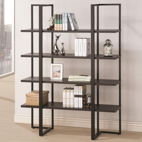 801035 Dark Cappuccino 5 Shleves Bookcase