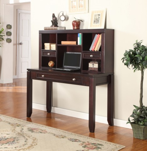 "Boston 47"" Writing Desk with Hutch"