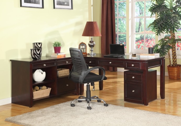 Boston L Shape Credenza Home Office Set From Parker House Bos 347c 347d 370 Coleman Furniture