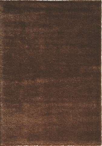 "Boulevard Dark Brown Glitz Low Pile Shag 94"" Rug"