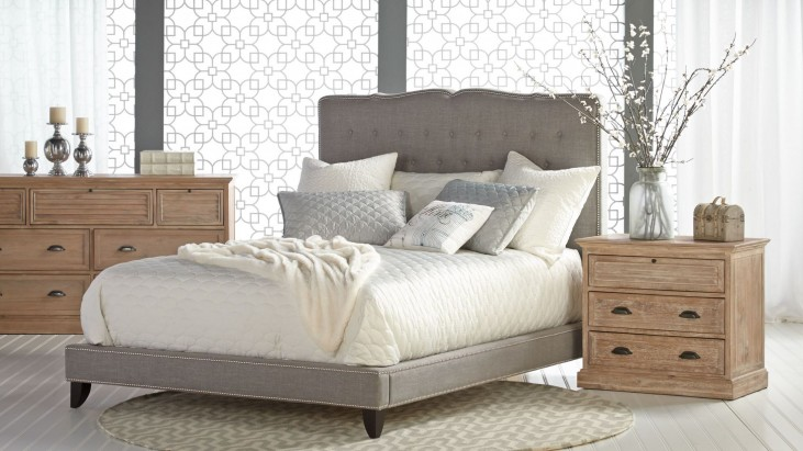 Boulevard Espresso Smoke Fabric Platform Bedroom Set
