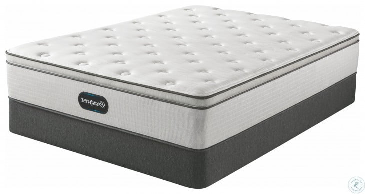 Beautyrest Promo BR800 Plush Pillow Top Twin Size Mattress With Foundation