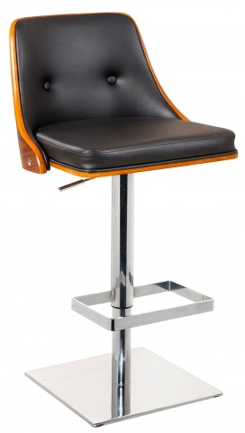 Braiden Faux Leather Adjustable Barstool