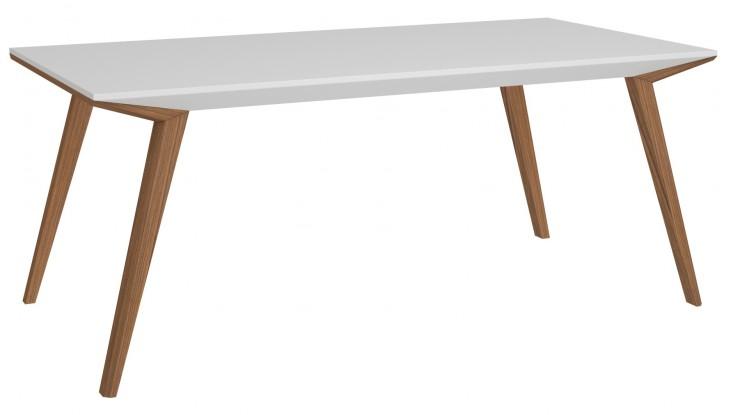 Branden-2 White Rectangular Dining Table