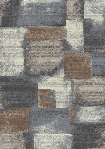 Breeze Grey and Brown Stonework Medium Rug