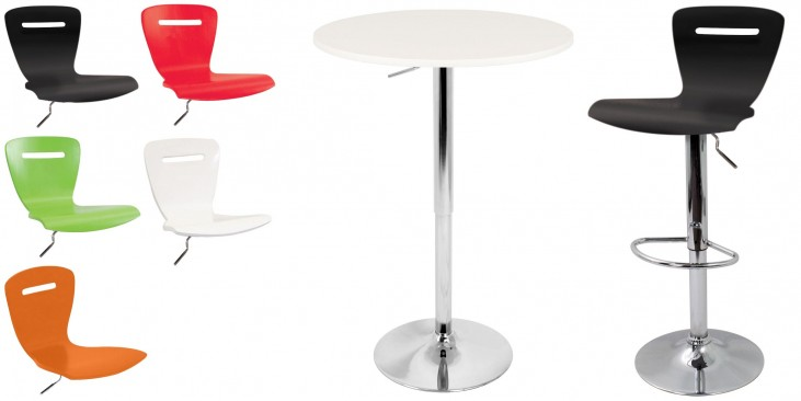 Tlelia Adjustable White Bar Set