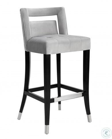 Hart Grey Velvet Counter Stool From Tov Coleman Furniture