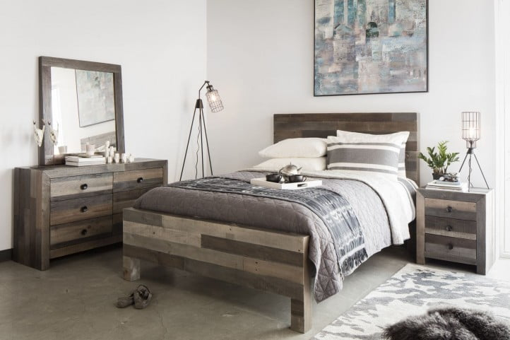 Vintage Grey Panel Bedroom Set from Moes Home | BT-1012-37 ...