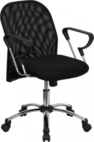 Mid-Back Black Office Chair