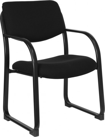 1000203 Black Executive Side Chair with Sled Base