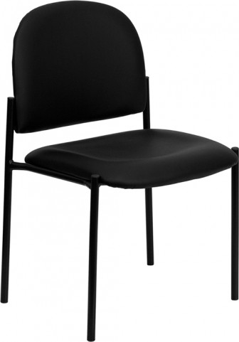 1000213 Black Comfortable Stackable Steel Side Chair