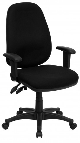 High Back Black Ergonomic Computer Arm Chair