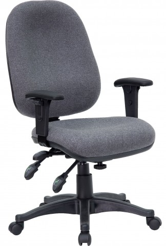Multi Functional Gray Swivel Computer Chair