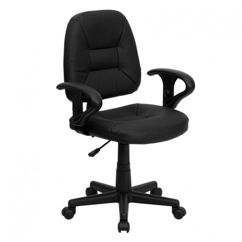 Black Ergonomic Task Chair with Arms