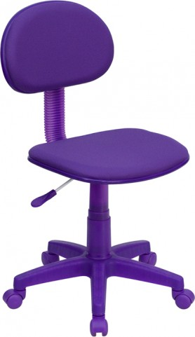 Purple Ergonomic Task Chair Pneumatic Seat Height Adjustment