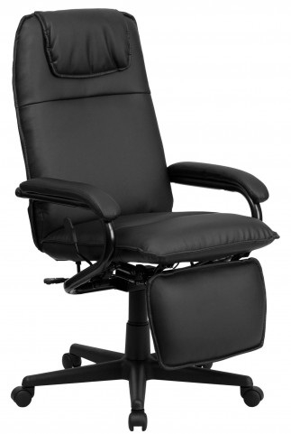 Tall Black Executive Reclining Office Chair
