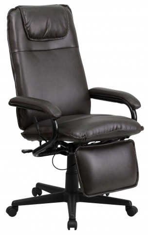 High Back Brown Reclining Executive Office Chair