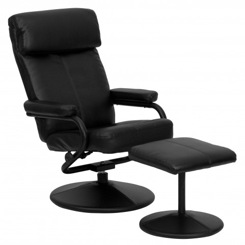1000422 Black Recliner and Ottoman