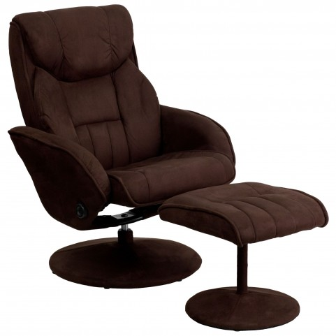 1000427 Brown Recliner and Ottoman