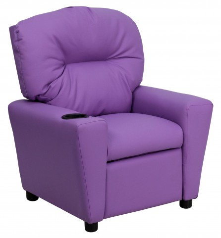 Lavender Kids Recliner with Cup Holder