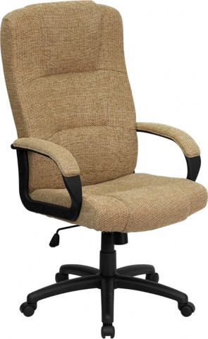 High Back Beige Executive Office Chair