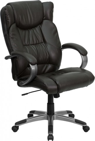 High Back Espresso Brown Executive Office Chair