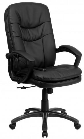 Massaging Black Executive Office Chair