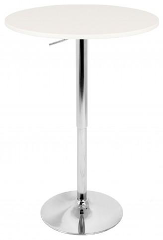 Adjustable White Bar Table