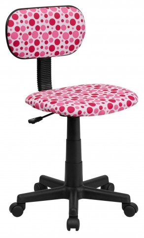Printed Pink Dot Computer Chair