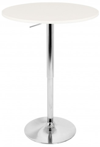 Tlelia Adjustable White Bar Table